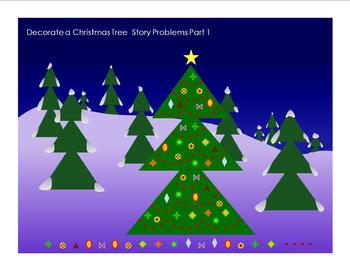 Decorate a Christmas Tree Math Story Problems 1