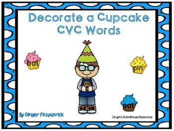 Decorate a Cupcake CVC Words Game