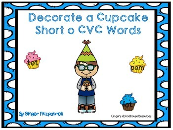 Decorate a Cupcake Short o CVC Words Game