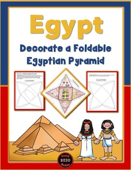 Decorate a Foldable Egyptian Pyramid