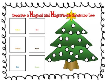Decorate a M&M Christmas tree
