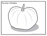 Decorate a Pumpkin (B&W) 8.5x11