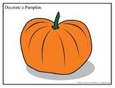 Decorate a Pumpkin (Color) 8.5x11