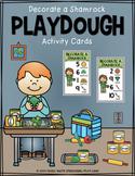Decorate a Shamrock Playdough Activity Cards