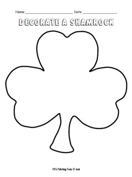 Decorate a Shamrock {St. Patrick's Day}