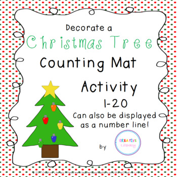 Decorate a Tree Counting Activity 1-20