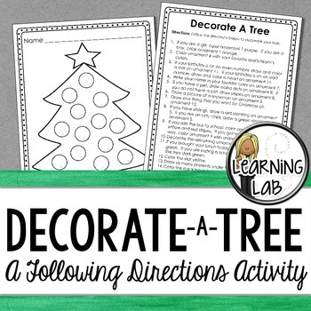 Decorate a Tree (Follow Directions)