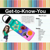 Decorate a Water Bottle | | Back to School | Get-to-Know-Y