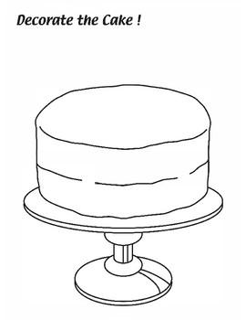 decorate the cake coloring worksheet by maple leaf learning tpt. Black Bedroom Furniture Sets. Home Design Ideas