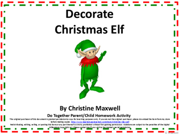 Decorate the Christmas Elf