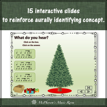 Christmas Music 1 Eighth/2 Sixteenths: Interactive Rhythm Game Decorate the Tree