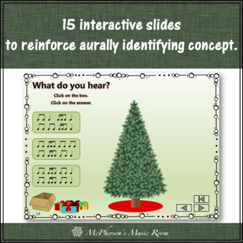 Christmas Music 2 Sixteenths/1 Eighth: Interactive Rhythm Game Decorate the Tree