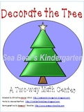 Decorate the Christmas Tree Math Center Game