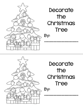 Decorate the Christmas Tree Mini Book