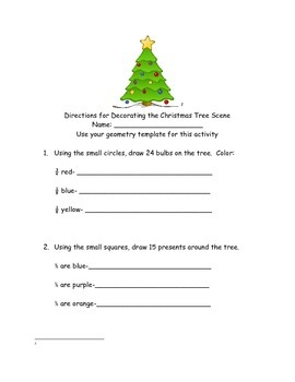 Decorate the Christmas Tree Using Your Fraction Knowledge