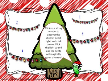 Decorate the Christmas Tree with Rhythms!