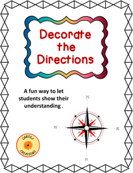 Decorate the Directions: An Intermediate Directions Worksheet