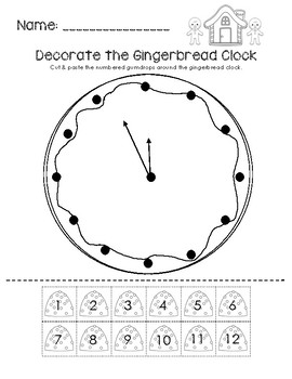 Decorate the Gingerbread Clock