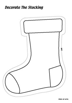 Decorate the Stocking Christmas Activity