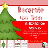 Decorate the Christmas Tree Articulation Freebie /L/ all positions