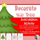 Decorate the Christmas Tree: Articulation Activity