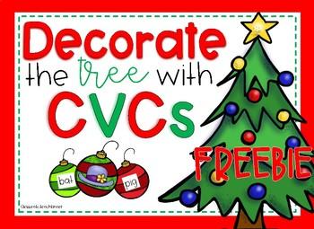 Decorate the Tree with CVCs FREEBIE