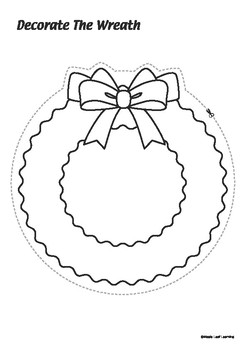 Decorate the Wreath Christmas Activity