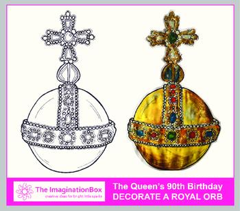 Free UK Royal Family Art Activity - Decorate this Royal Orb