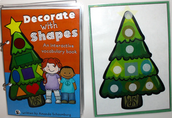 Decorate with Shapes! An interactive  book (Mini & Full Page Versions)