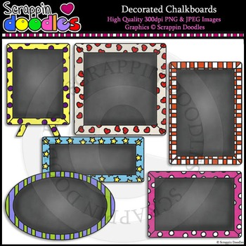 Decorated Chalkboards