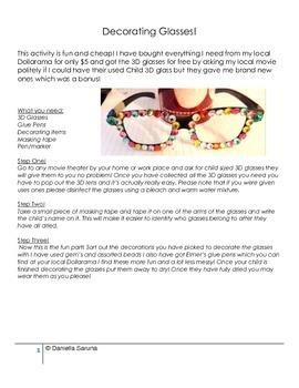 Decorating 3D Glasses