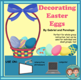 Interactive Book for Speech Therapy:  Decorating Easter Eggs