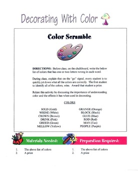 Decorating With Color Schemes Lesson