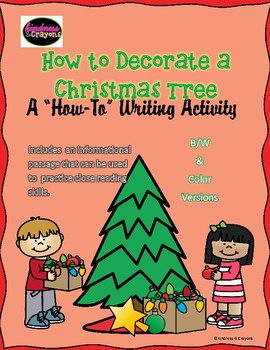 Decorating a Christmas Tree How To Writing