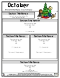 Decorating for Christmas - Editable Newsletter Template -