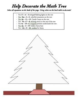 Decorating the Math Tree