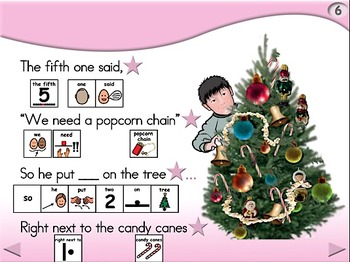 Decorating the Tree - Animated Step-by-Step Poem PCS Symbols