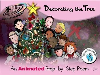 Decorating the Tree - Animated Step-by-Step Poem SymbolStix