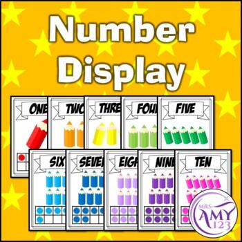 Decoration/Decor Pack- Rainbow Pencil Theme- Numbers, Colours & more