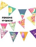 Décoration - Fanions thème tropical