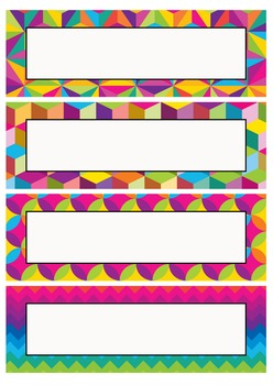 Editable Decoration Pack - Crazy Rainbow