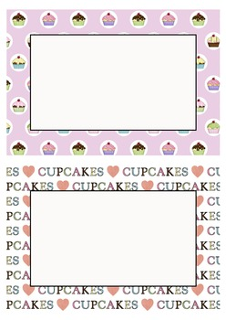 Editable Decoration Pack - Cupcakes