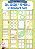 Editable Decoration Pack - Ice Cream / Popsicle