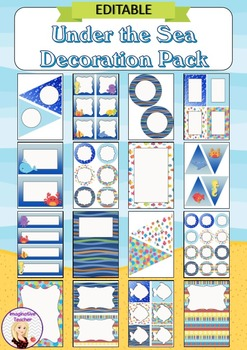 Editable Decoration Pack - Under the Sea