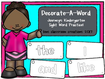 Decorative A Word!  (Kindergarten Journey's sight words)