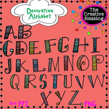 Decorative Alphabet Letter Clip Art