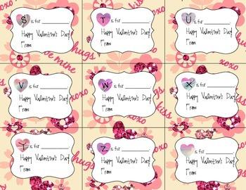 Decorative Alphabetic Valentines