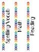 Decorative Binder Labels & Names Rainbow Watercolor Theme