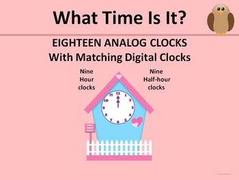 Clocks, Analog and Digital: Hour and Half-Hour (Telling Ti