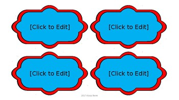 Decorative Blank Labels - Dr. Seuss Tribute Colors